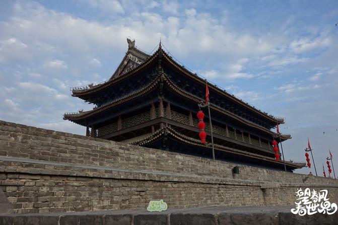 手绘西安城墙 | 大明城墙上骑自行车,赏十三朝古都不夜城