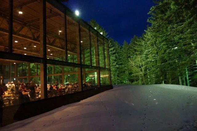 通过空中连廊来到了胡霍同款森林餐厅,环境真的很美,我们坐在窗边位置