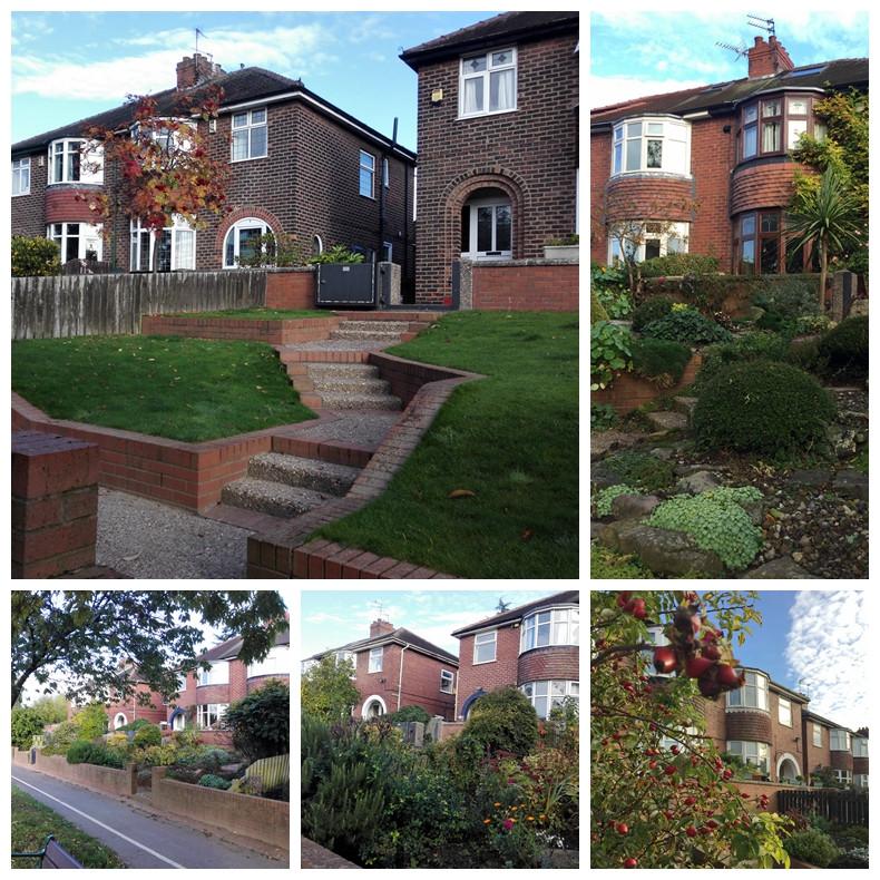 每栋别墅前都有主人精心管理的花圃.