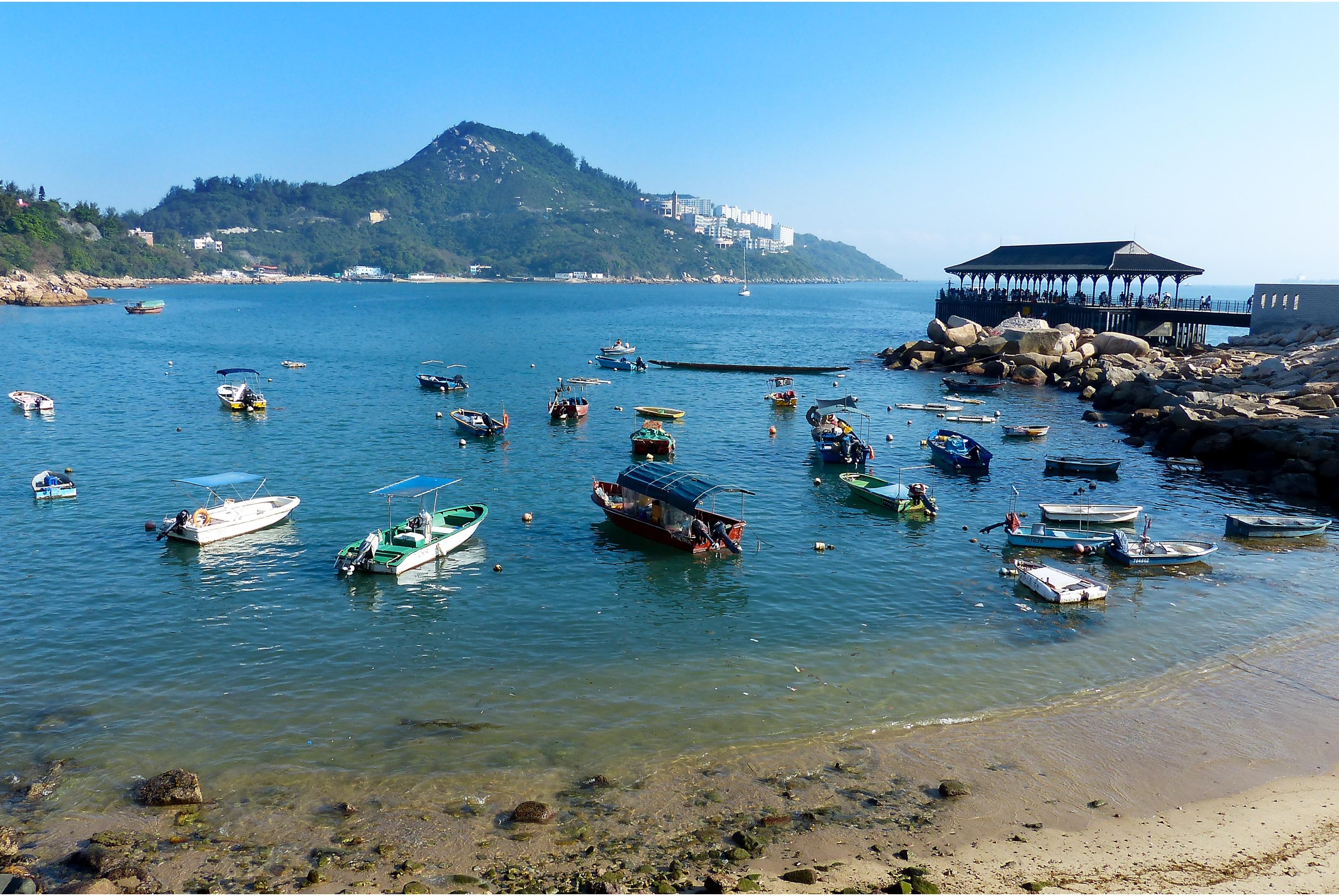 香港南丫岛渔民文化村 神风洞 天虹海鲜酒家 欣赏维港景色 索罟湾一