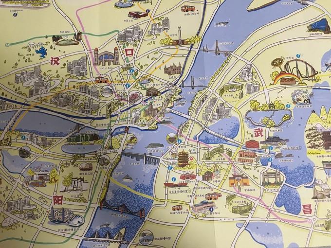 这张手绘地图是在机场拿的,相当好用又可爱.