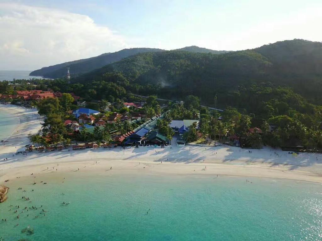 热浪海湾度假村  前面的沙滩.超级柔细