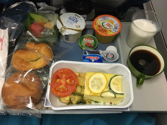飞机上的早餐