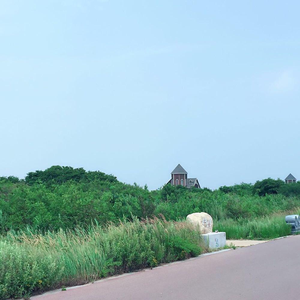 河北唐山乐亭浅水湾,菩提岛