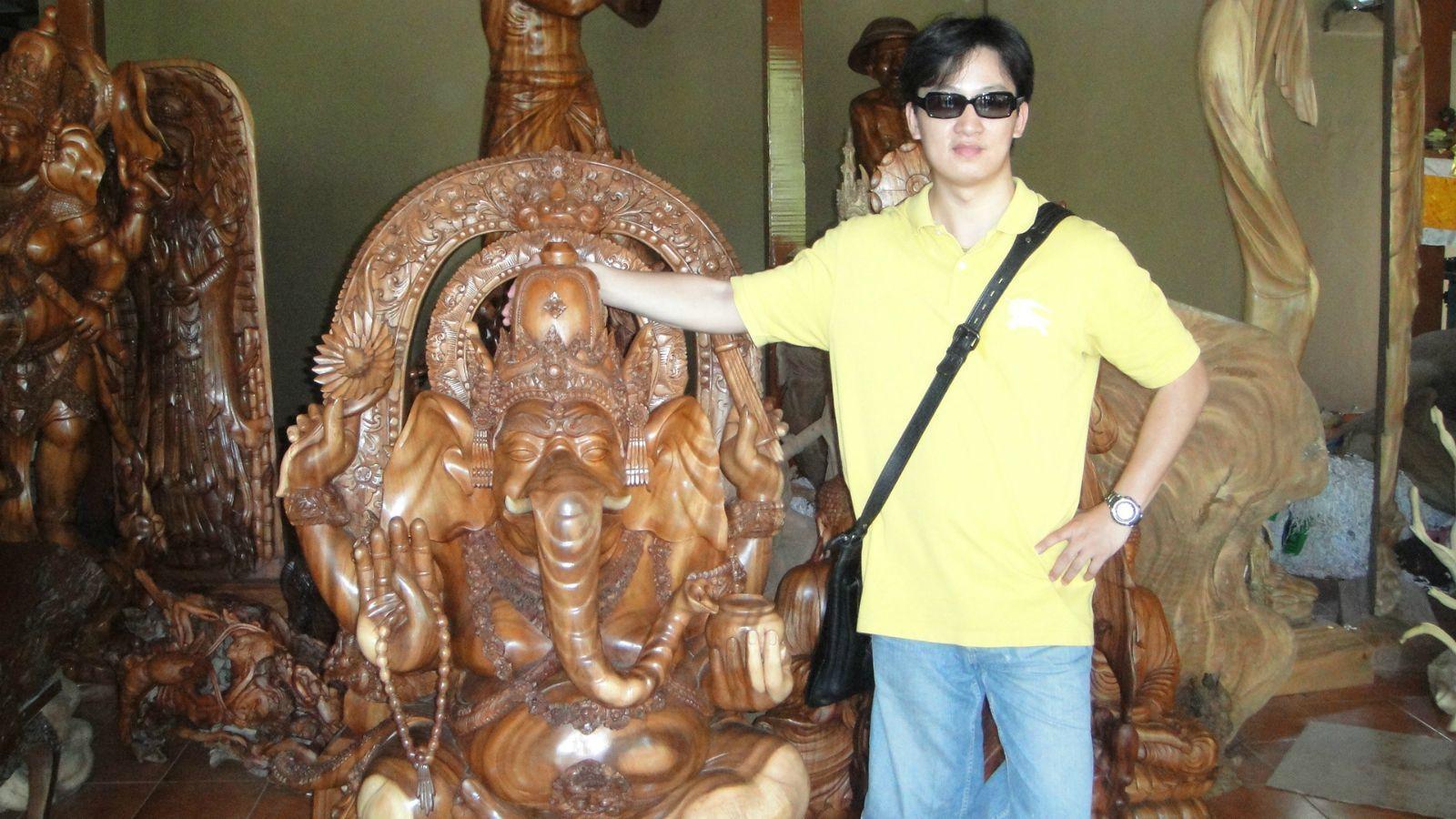 巴厘岛木雕村 这个以海拔1717米的巴都鲁山为中心的