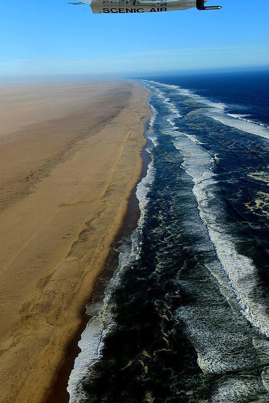 """【纳米比亚】航拍骷髅海岸""""沙漠与海水的交响曲""""(上)"""