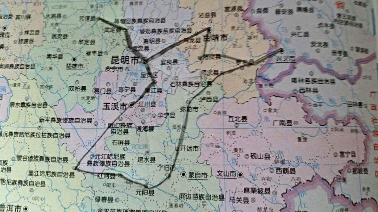 汇风的手绘路线图