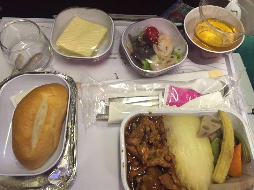 泰国航空经济舱飞机餐