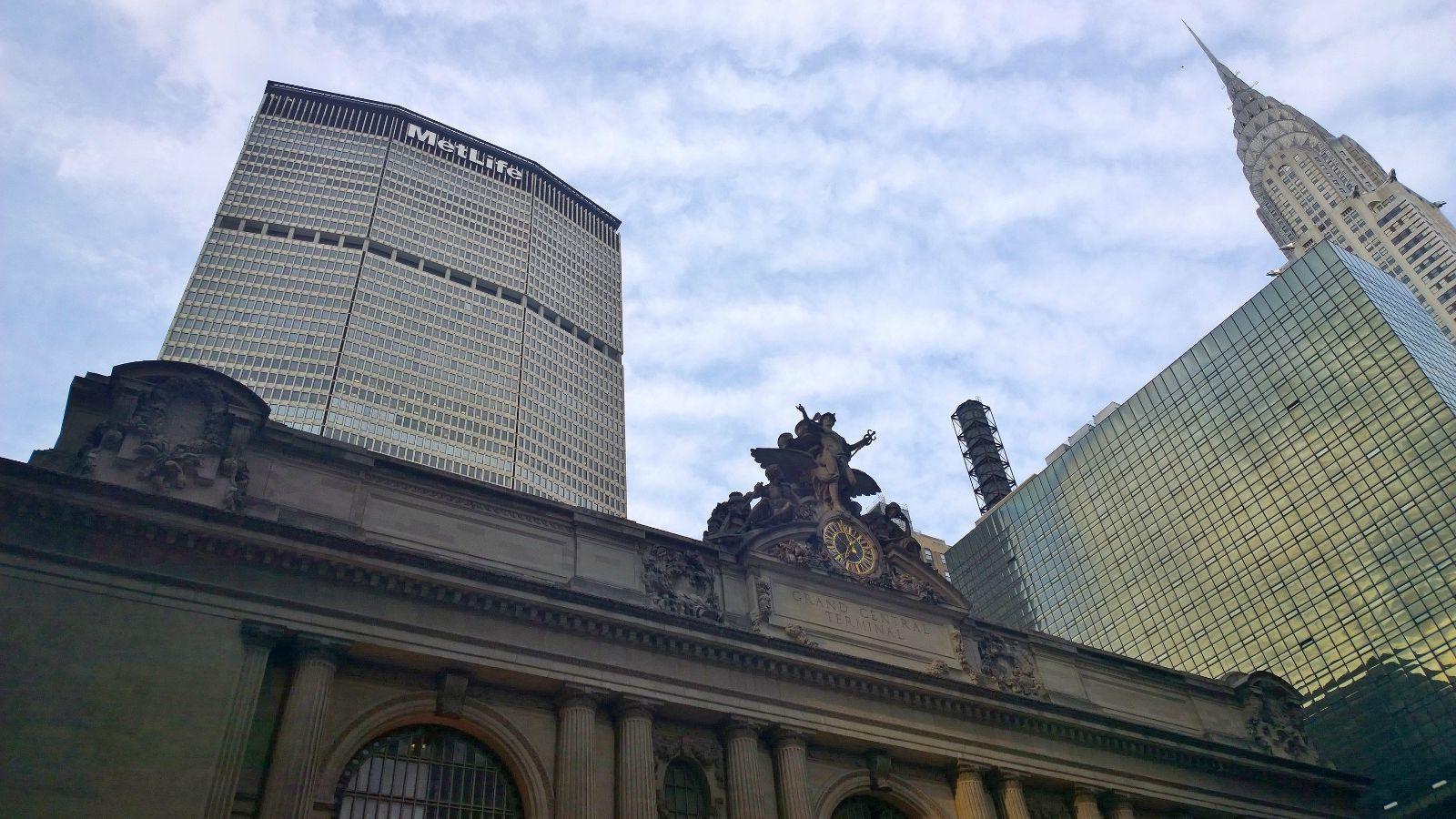 三巨头集合:克莱斯勒大厦,中央车站和metlife大都会大楼