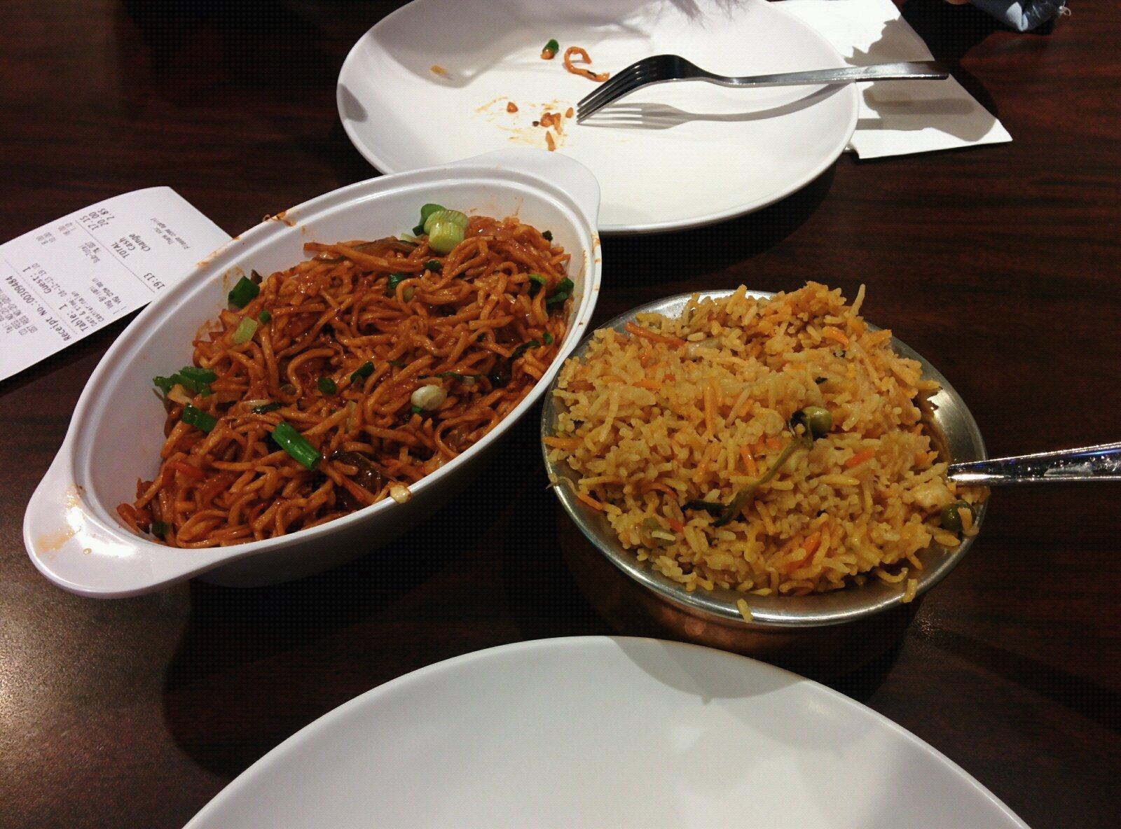 酒店附近的印度餐厅随便吃点快餐
