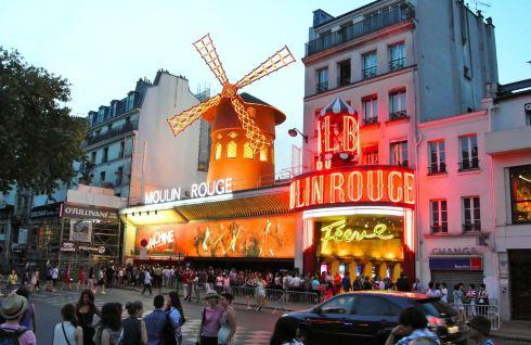 巴黎风街道背景素材