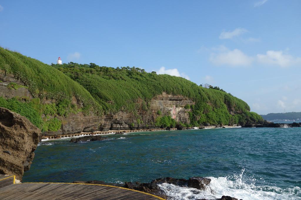 这就是岛上有名的《海枯石烂》景点.