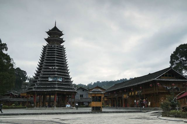 木质手工制作建筑宝塔
