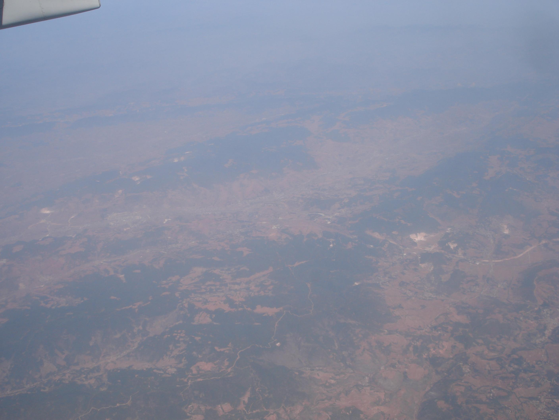 从飞机上看丽江  好奇 期待