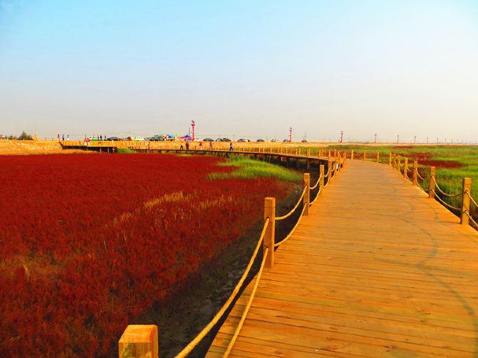 秋日攻略石山滩(看图说话)1-盘锦自驾游记红海攻略宴图片