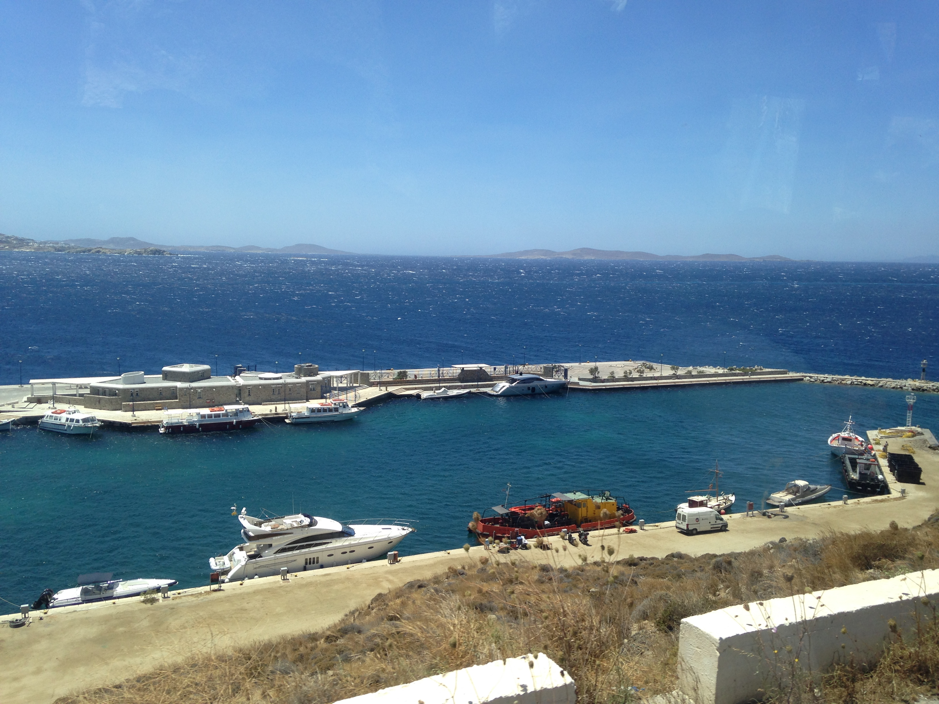 爱琴海诸岛 爱琴海诸岛 到达米岛 希腊 米克诺斯 酒店特色的门厅