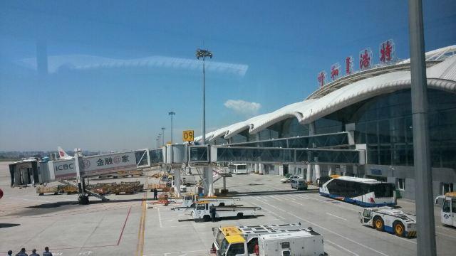 从广州坐飞机来到呼和浩特机场