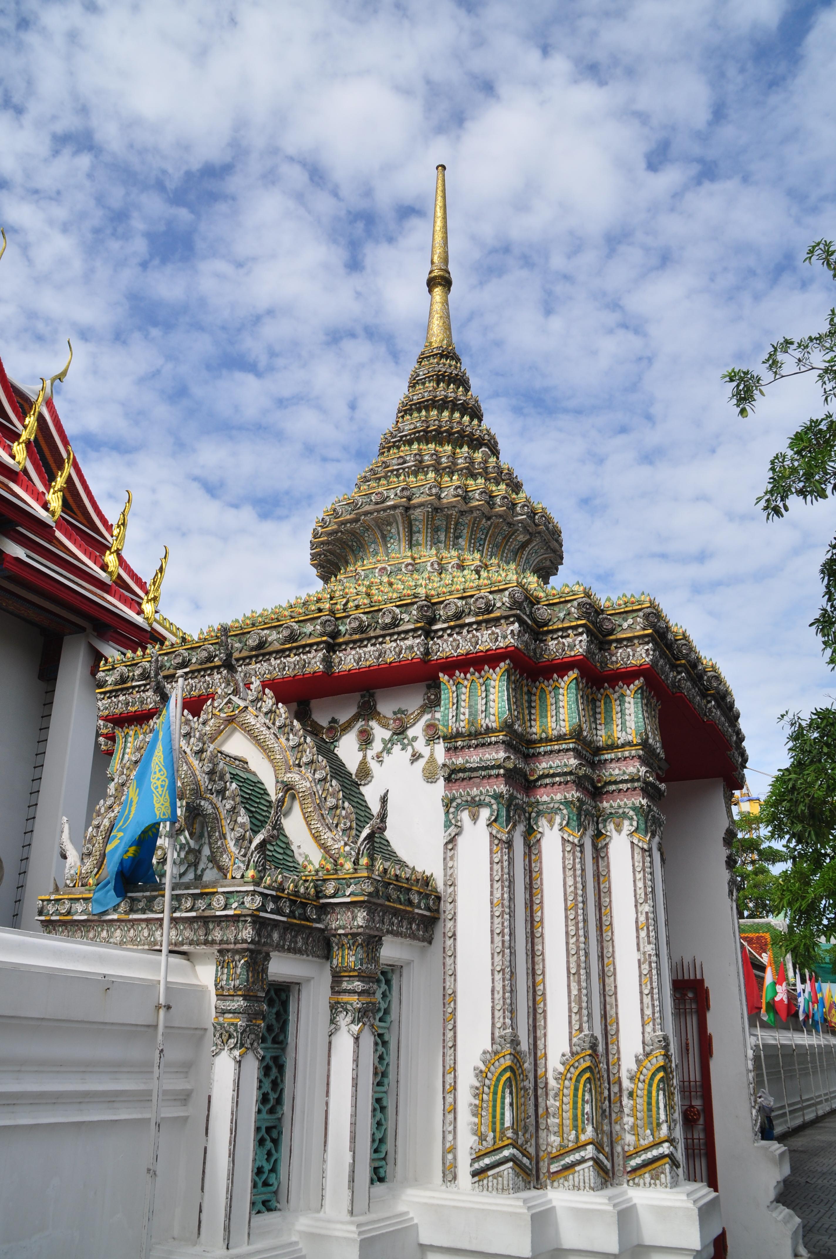 泰国佛塔手绘壁画