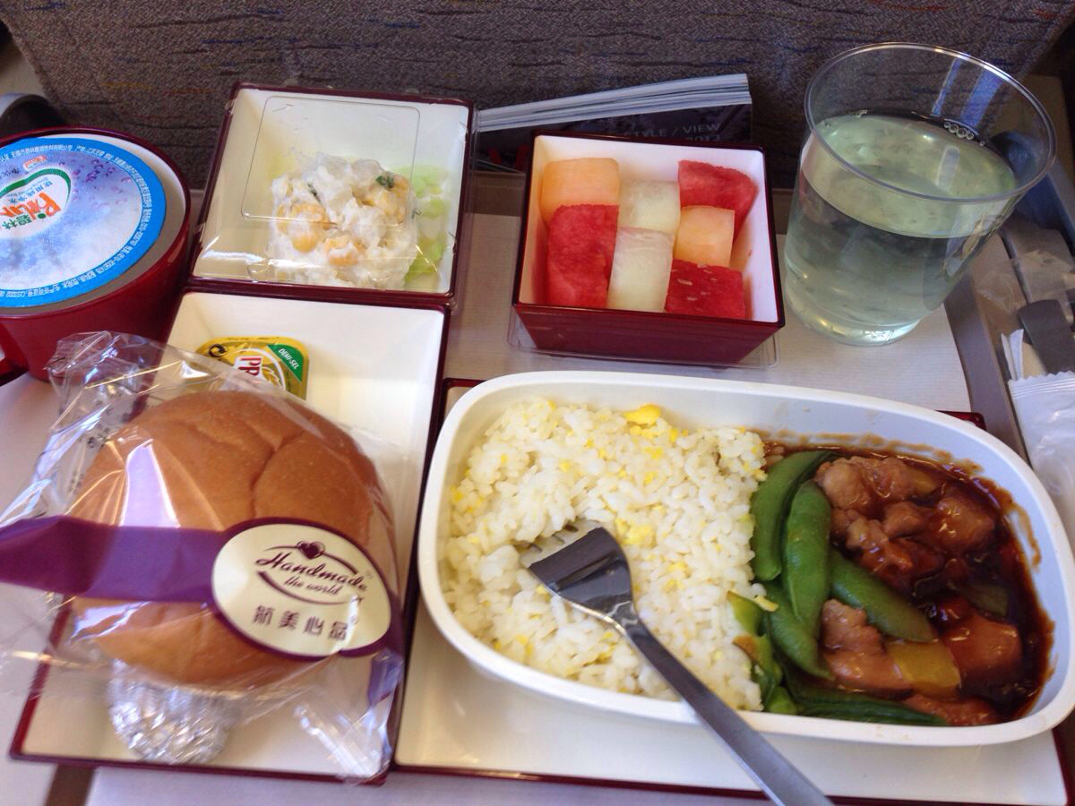韩亚航空,北京---首尔,飞机餐