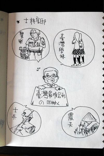 学校导游路线图 手绘