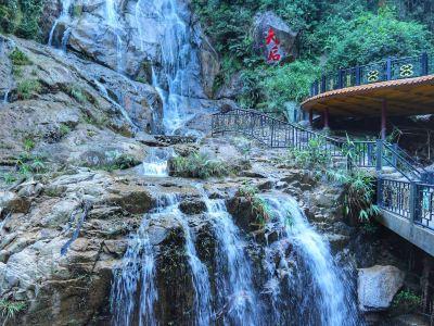 天子山瀑布自然景区图片