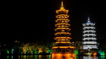 桂林 日月双塔