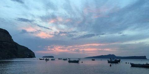 聖托裡尼海上日落環線