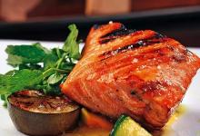 多伦多美食图片-烤鲑鱼