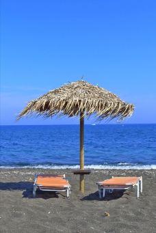 贝里沙海滩-圣托里尼-super愤怒的家雀