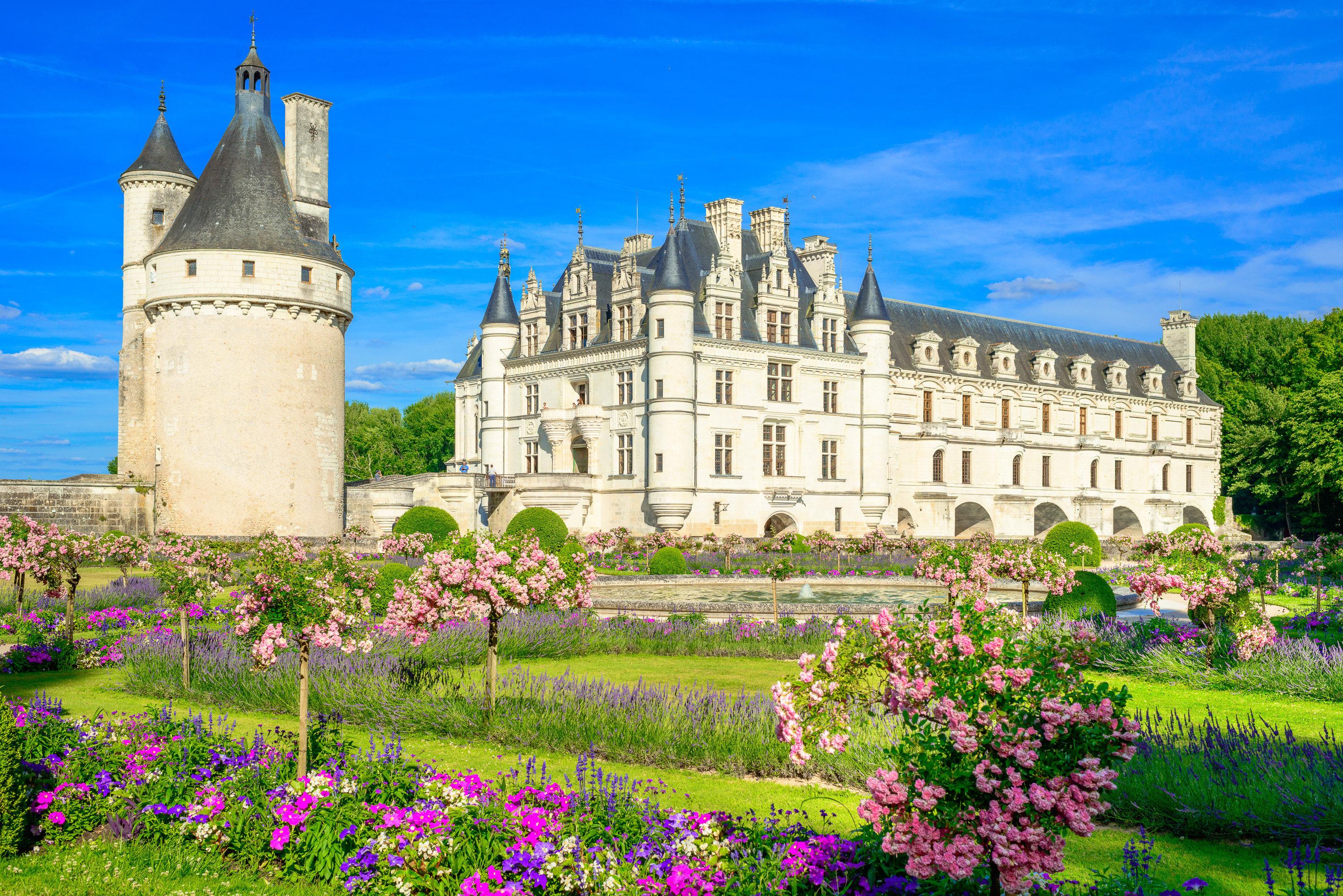 法國盧瓦爾河谷舍農索城堡+香波堡一日遊(含門票+美酒品鑒+中文導遊)
