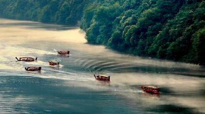 新安江漂流-夕阳西下
