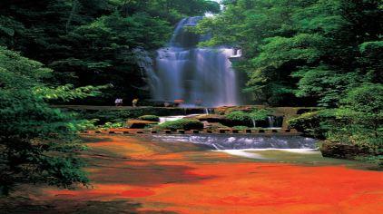 燕子岩——莲台瀑布