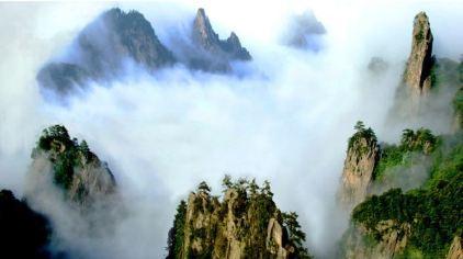 尧山瀑流天池